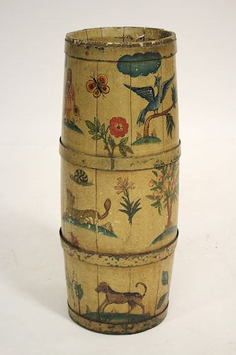 Painted Decorated Umbrella Stand
