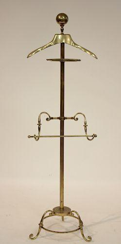 Vintage Deco Style Brass Valet by Glo-Mar NY
