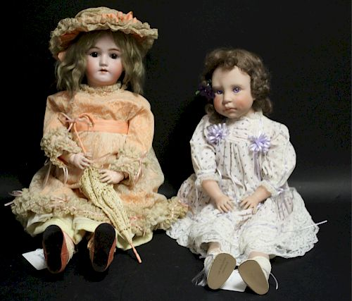 Handrick/Halbing Porcelain Doll & Middleton Doll