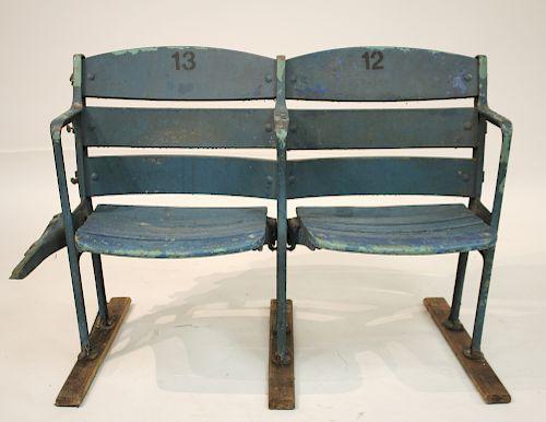 2 Original Yankee Stadium Seats, No.12 & 13,c.1923