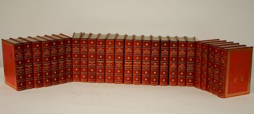 Dumas, 26 Volume Collection Red Leather