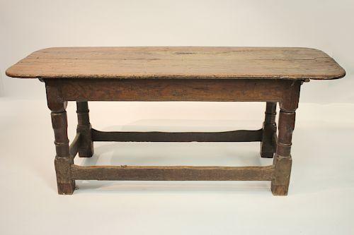 English Jacobean Oak Refectory Table