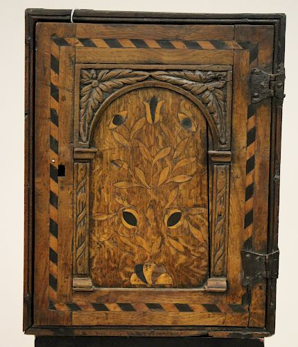 English Jacobean Hanging Spice Cabinet
