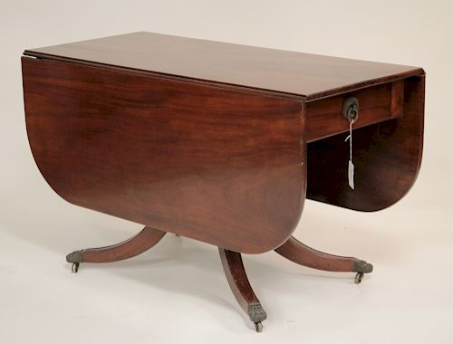 Mahogany Drop Leaf Dining Table, 19th C