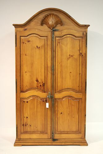 Spanish Colonial Striped Pine Armoire