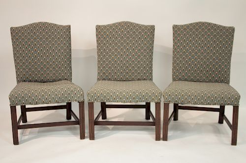 Georgian Marlboro Carved & Upholstered Side Chairs