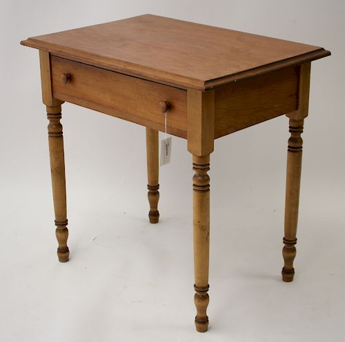Late Federal Style Pine Side Table
