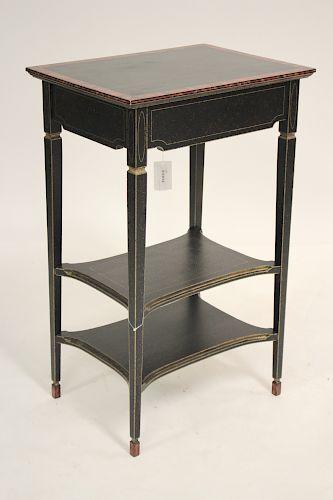 Art & Commerce 3 Tier Table w/ Decorative Finish