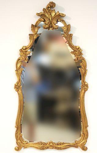 Rococo Style Gilt Composition Mirror