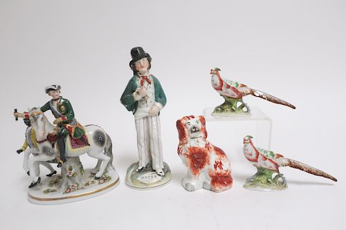 5 Porcelain Figures and Animals