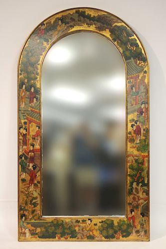 Huge Contemporary Chinoiserie Mirror