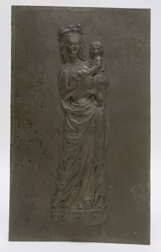 Bronze Plaque of Mother and Child