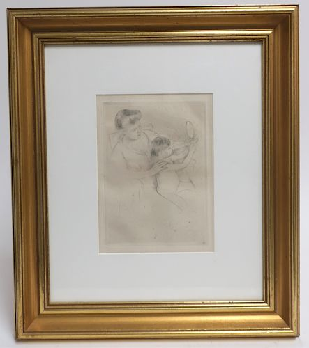 Mary Cassat (1844-1926, Amer.), Drypoint Etching