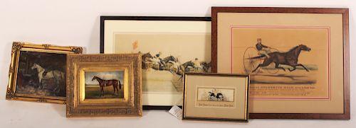 Horses In Art, Various Media Incldg. Stevengraph