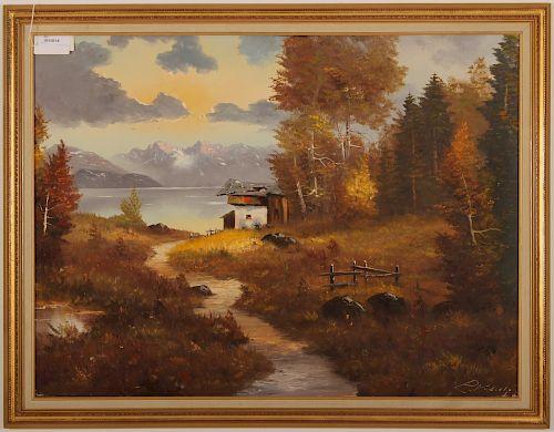 20th C. European Landscape, O/C