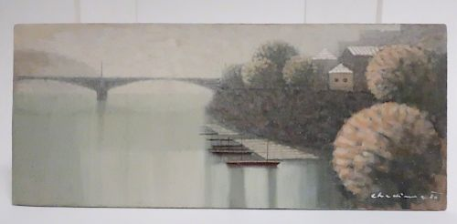 Jiri Chadima, Boats by the Shore, O/B