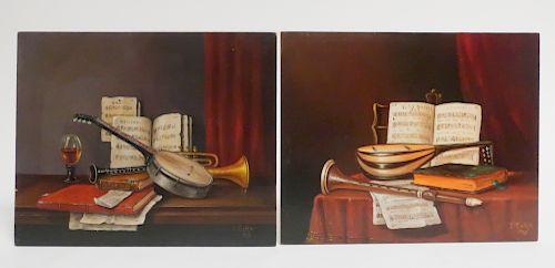 "Filkorn Tibor, AKA ""T.Corn"", 2 Still Life,O/B"