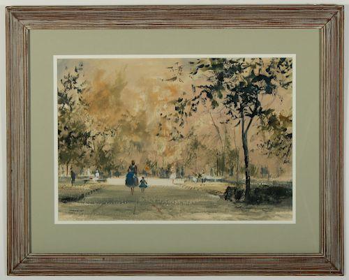 "John Clifford Pellow ""A Stroll in the Park"" W/C"