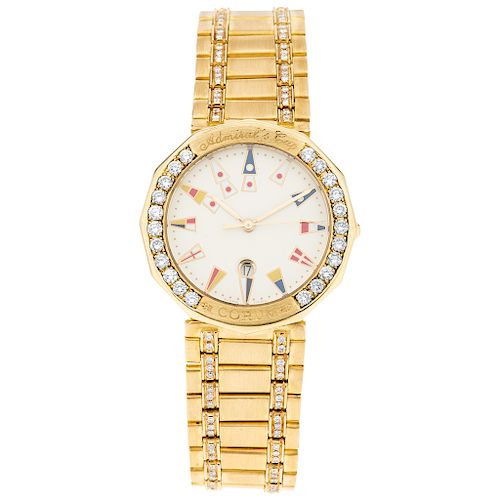 CORUM ADMIRAL'S CUP yellow and pik gold 18 K. wristwatch.