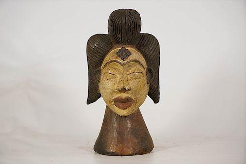 "Punu Headcrest Style Figure 12"""