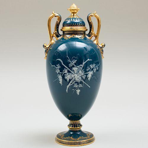 Mintons Pâte-Sur-Pâte Vase and Cover by Albion Birks