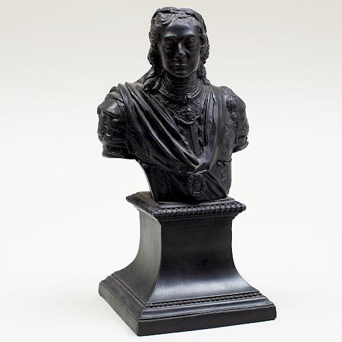 Wedgwood Basalt Bust of Louis XIV