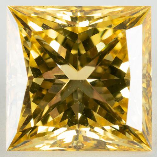 Unmounted Treated Yellow Diamond
