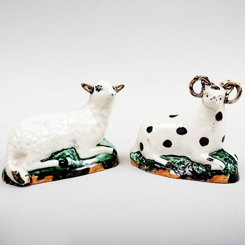 Pair of Staffordshire Models of Sheep