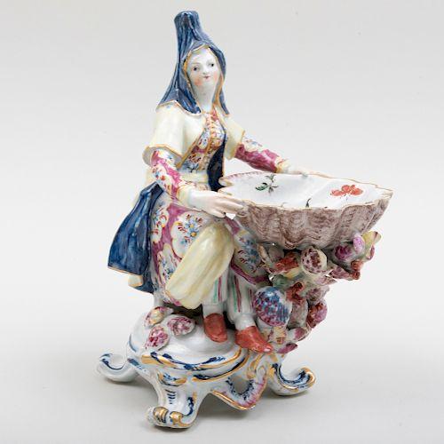 English Porcelain Figural Sweetmeat Dish