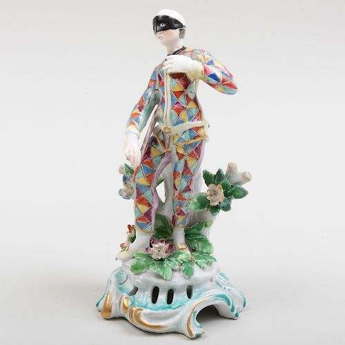 English Porcelain Figure of a Harlequin
