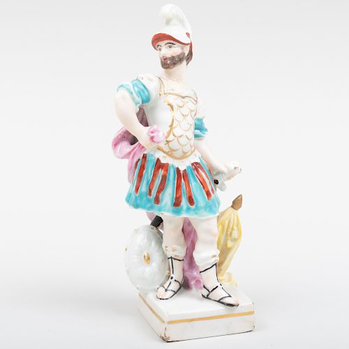 English Porcelain Model of a Roman Soldier