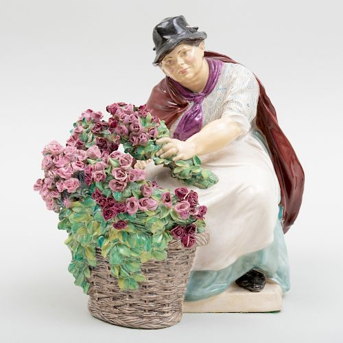 Charles Vyse Chelsea Pottery 'Picadilly Rose Woman'