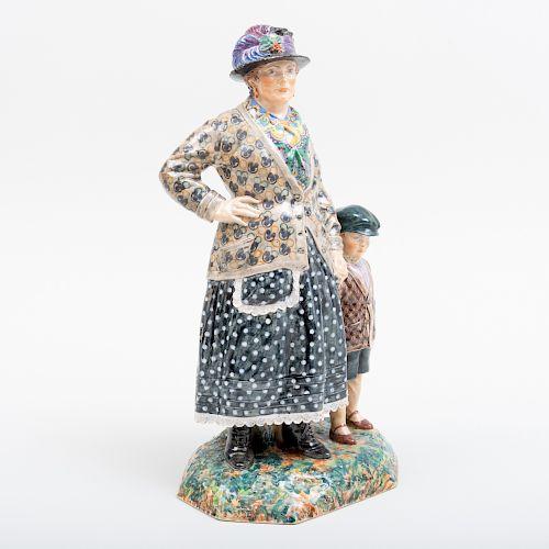 Charles Vyse Chelsea Pottery 'Barnet Fair'