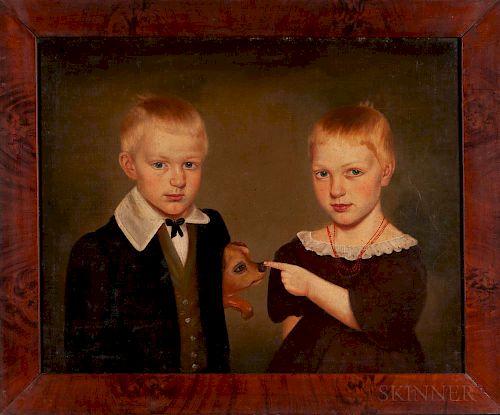 Milton Hopkins (New York/Connecticut/Ohio, 1789-1844)  Portrait of Rachel and Reason Hand of Wooster, Ohio, 1838