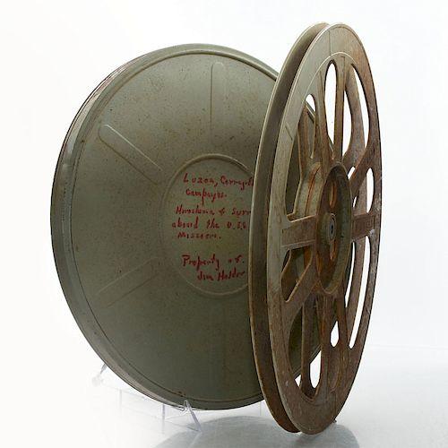 VINTAGE WORLD WAR II 16 MM COMBAT FILM STOCK, 1945