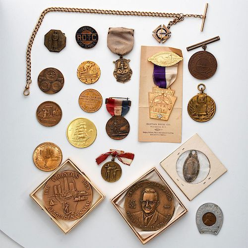 19 20TH & 19TH CENTURY COMMEMORATIVE COINS AND MEDALS