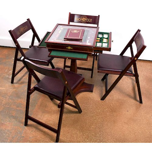 FRANKLIN MINT MONOPOLY COLLECTORS EDITION GAME TABLE