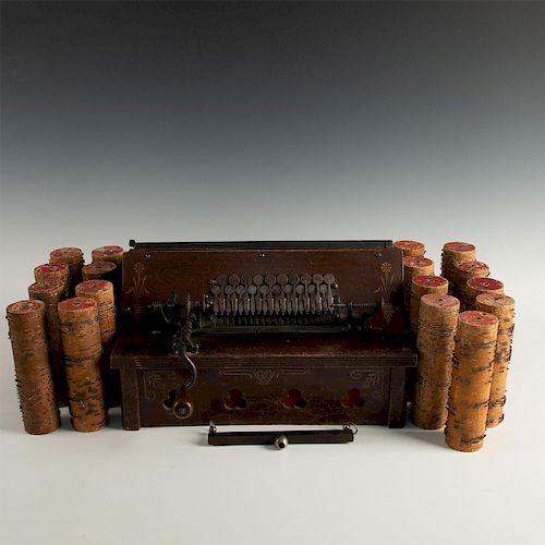 GEM ROLLER ORGAN MUSIC BOX