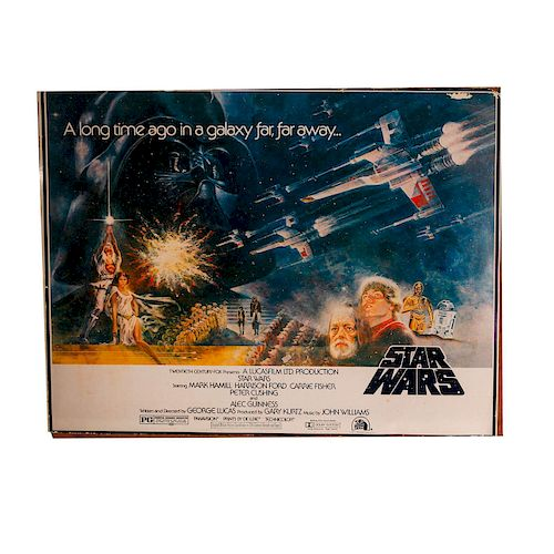 ORIGINAL 1977 STAR WARS PROMOTIONAL POSTER