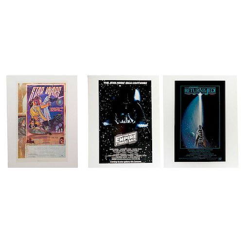 3 STAR WARS MOVIE POSTERS, REPRODUCTIONS