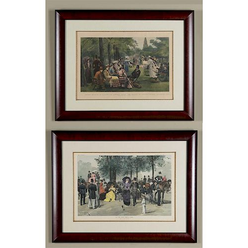 2 VICTORIAN ENGRAVED PRINTS, ROYAL PARKS OF LONDON