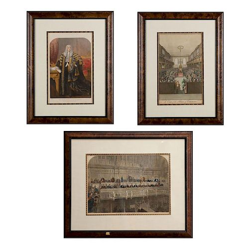 3 VICTORIAN ENGRAVED PRINTS
