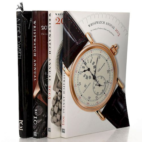 4 BOOKS VARIOUS WRISTWATCH GUIDES