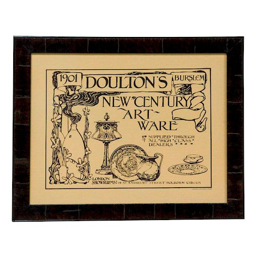 DOULTON BURSLEM ARTWARE ADVERTISING PRINT
