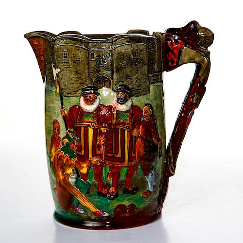 ROYAL DOULTON TOWER OF LONDON JUGS BY NOKE & FENTON