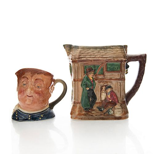 2 ROYAL DOULTON DICKENS PITCHER & CHARACTER JUG