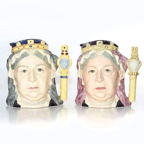 2 LG ROYAL DOULTON CHARACTER JUGS, QUEEN VICTORIA