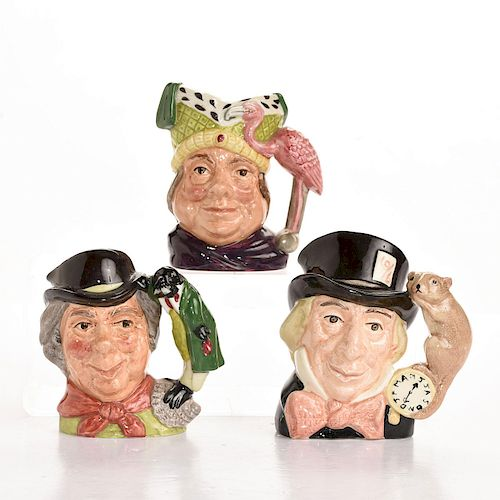 3 ROYAL DOULTON SM ALICE IN WONDERLAND CHARACTER JUGS