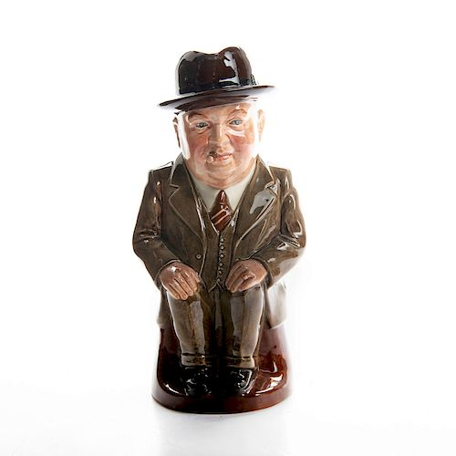 LARGE ROYAL DOULTON TOBY JUG, CLIFF CORNELL