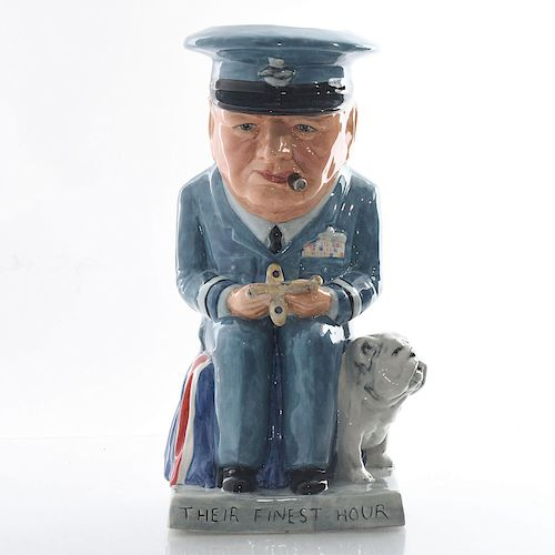 BAIRSTOW MANOR TOBY JUG W. CHURCHILL AIR COMMODORE